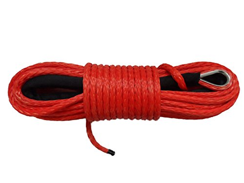 12inch94Feet-ATV-UTV-SUV-Red-Synthetic-Winch-Rope-Replacement-Winch-Cable