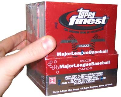 2003 Topps Finest Baseball Card Unopened Hobby Box