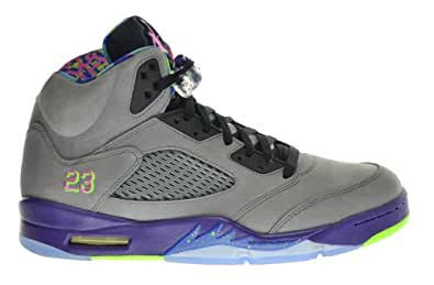 "Air Jordan 5 Retro ""Bel Air"" Fresh Prince Men's Shoes Cool Grey/Club Pink-Court Purple-Game Royal 621958-090 (Size 8)"