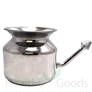 Stainless Steel Neti Pot for Sinus Congestion (Ayurvedic JalNeti)