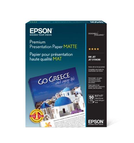 Epson Bi Matte Paper Heavyweight 8.5inx11in 50 Ct (vf)