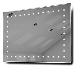Clara Ultra-Slim LED Bathroom Illuminated Mirror With Demister Pad & Sensor k164