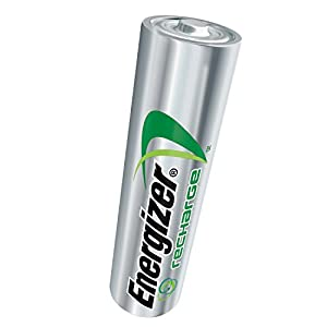 Energizer Recharge Power Plus AA 2300 mAh Rechargeable Batteries, Pre-Charged, 4 count