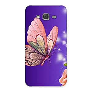 Special Butterfly Pinkish Back Case Cover for Galaxy J7
