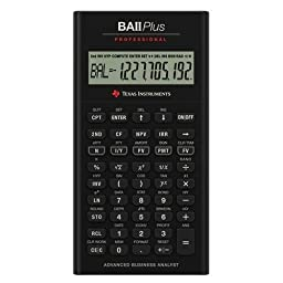 Texas Instruments TI BA II Plus Professional Financial Calculator - 10 Character(s) - LCD - Battery Powered IIBAPRO/CLM/4L1/A