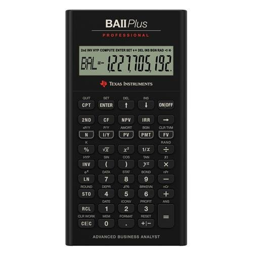 Texas Instruments TI BA II Plus Professional Financial Calculator - 10 Character(s) - LCD - Battery Powered IIBAPRO/CLM/4L1/A (Ti Ii Plus compare prices)