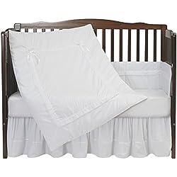 Baby Doll Royal Crib Bedding Set, White