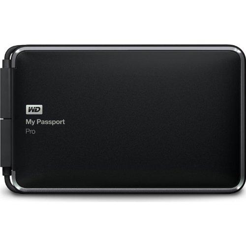 Wd My Passport Pro 2Tb Portable Raid Storage With Integrated Thunderbolt Cable (Wdbrmp0020Dbk-Nesn)