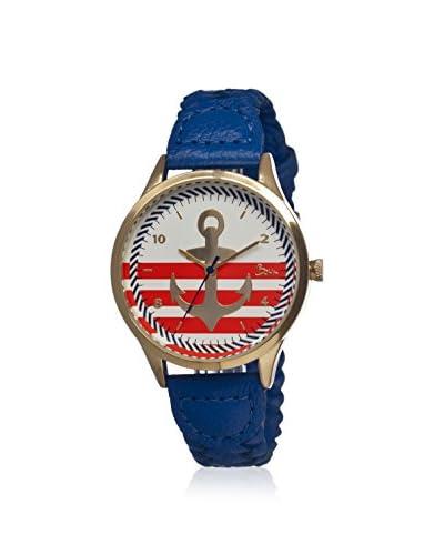 Boum Women's BM1701 Marin Blue/Multicolor Leather Watch