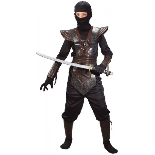 Leather Ninja Fighter Costume - Large