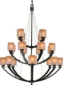 357 20 Light Chandelier 20-60W Iron Oxide Raiden - Foyer - Amazon.com