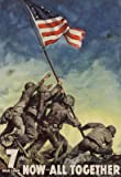 (13x19) 7th War Loan Bonds Iwo Jima Soldiers with Flag WWII War Propaganda Art Print Poster