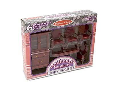 Melissa & Doug Dollhouse Furniture - Dining Room Set