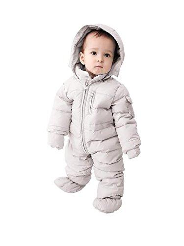 ae224d3efbf6 Oceankids Baby Boys Girls Beige Pram One-Piece Snowsuit Attached ...