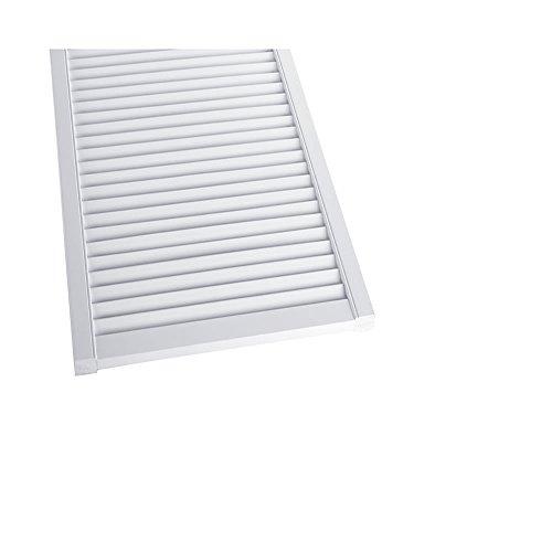 Offene-Lamellentr-Schranktr-Heizkrperverkleidung-Kiefer-wei-lackiert-395-x-394-x-21-mm