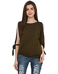Military Green Slit Tie T Shirt Large