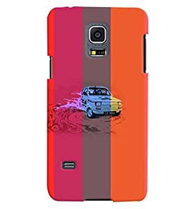 PrintVisa Car Colorful 3D Hard Polycarbonate Designer Back Case Cover for Samsung Galaxy S5 Mini