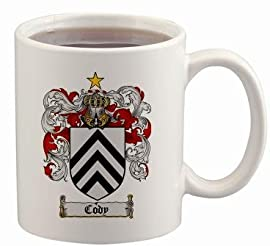 Cody Coat of Arms Mug / Family Crest 11 ounce cup
