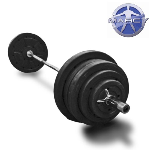 Marcy 95kg Vinyl Olympic Weight Set With 7ft Olympic Barbell!