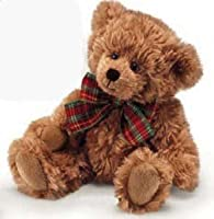 "Russ Berrie Extra Soft Teddy Bear with Plaid Bow 8"" (Light Brown) by Russ Berrie"