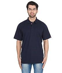 Gio Men's Cotton T-Shirt (AMZ_AMP_186_Navy_Large)