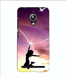 Crazymonk Premium Digital Printed 3D Back Cover For Asus Zen Fone Go