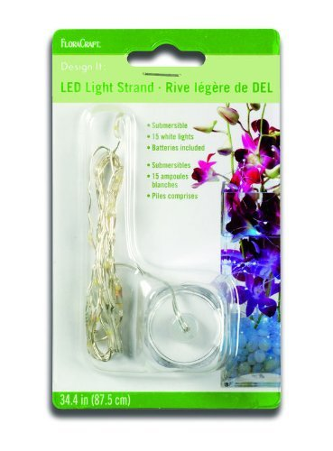 Submersible LED Light Strand, 15 Lights, Batteries Included (Pack of 2) (Floracraft Submersible Led Lights compare prices)