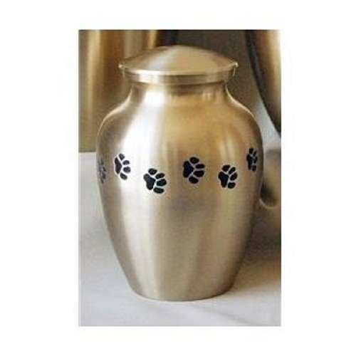 Pet Urn Classic Brass Cremation Urn for Pets {85 Cubic Inches} Up To 65 lb Pet Weight