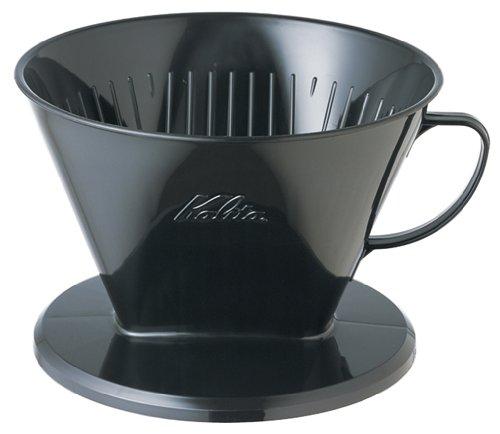 [7-12] For Human Kalita Plastic Coffee Dripper 104-Kp Black # 07007 (Japan Import)