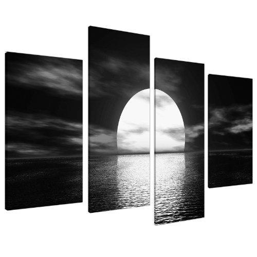 grande-quadro-su-tela-bianco-nero-wall-art-foto-ampio-set-stampe-130cm-xl-4003
