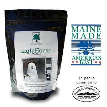 Lighthouse Blend Coffee (Whole Bean), 1 Lb Bag