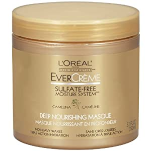 L'Oreal Paris EverCreme Sulfate-Free Moisture System Deep Nourishing Hair Masque, 5.1 Fluid Ounce