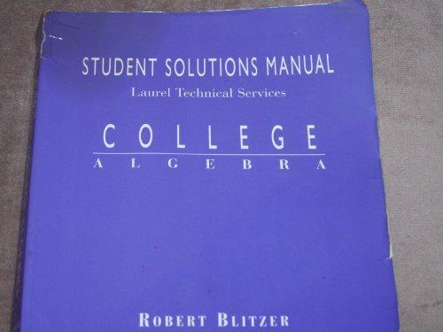 College Algebra: Student Solutions Manual