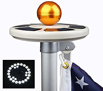 ieazy solar flag pole flagpole light 2in1 26 led brightest. Black Bedroom Furniture Sets. Home Design Ideas