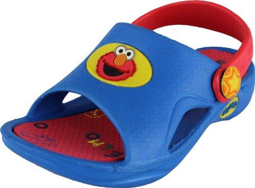 Sesame Street Elmo Blue/Red Toddler Sandals 5/6-9/10 (9/10) front-1081405