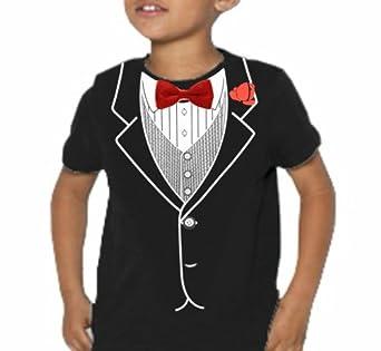 Kids All Occasion Formal Tuxedo T-Shirt #9 (Kids Large 14-16, Black)