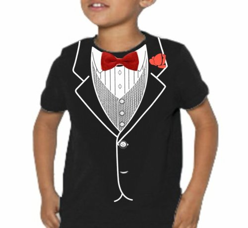 Kids All Occasion Formal Tuxedo T-Shirt (Black) #9