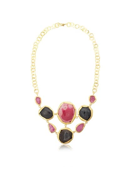 Zariin Floating Agates Bib Necklace