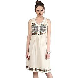 TAURUS WOMEN'S TOTEM DRESS (SDR-1556-IVRY-MEDIUM)