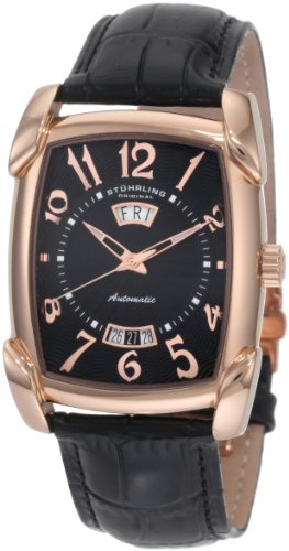Stuhrling Original Men's 98.33451 Classic Metropolis Madison Avenue Campaign Black Leather Strap Watch