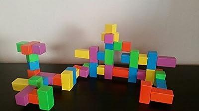 Wooden Magnetic Building Blocks 50 piece