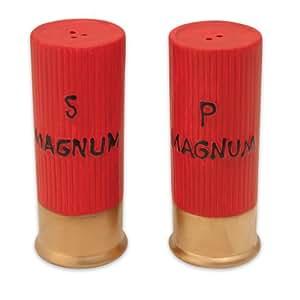 River's Edge 518 Ceramic Shot Gun Shells Shaped Salt and Pepper Shakers
