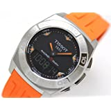 Tissot Racing-Touch Black Dial Black Chronograph Orange Rubber Strap Mens Watch T0025201705101