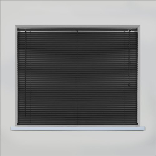 *SALE* EASYFIT BLACK Wood Effect Venetian blind * AVAILABLE WIDTHS 45 CM TO 210 CM AND IN BLACK, NATURAL and TEAK * 120 x Standard