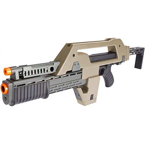 Evike Matrix Limited Edition Fully Functional Airsoft Alien Pulse Rifle - Tan - (44657)
