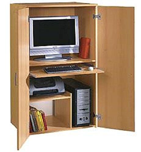 7-7-813-made-in-BRD-Broschrank-PC-Schrank-Computerschrank-Buche-dek