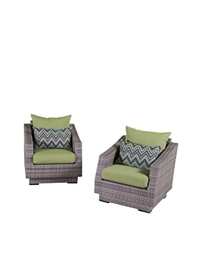 RST Brands Cannes Set of 2 Club Chairs, Green