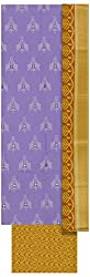 Mayura Women's Cotton Unstitched Salwar Suit (Purple and Yellow)