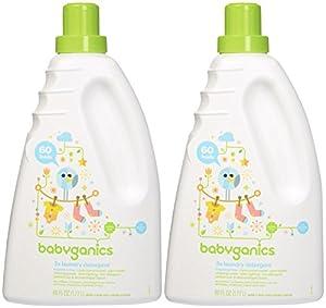 Babyganics Baby Laundry Detergent - Fragrance Free - 60 oz - 2 pk