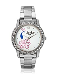 Aavior AA.1049.LR.SIL.WHT Powerpuff Analog Watch - For Girls, Women